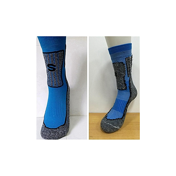 AONIJIE Sports Brand Socks Quality Professional Comfortable Elasticity Breathable Thick Trekking Riding Bicycle Men(bleu) à prix pas cher