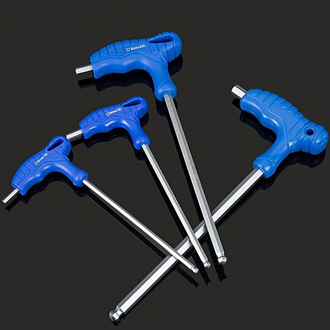 Autre 1pc Wrench Long Arm Star Torx Allen Hex Key Wrench Spanner Hexagon T Type Wrenches Bicycle Repair Tools(5mm ball) à prix pas cher