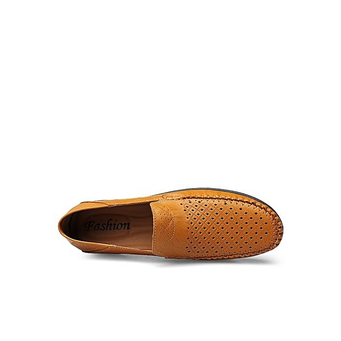 Fashion  s s  Hollowed-out Leather Loafer Flats Plus Size-Light Brown à prix pas cher  | Jumia Maroc b98075