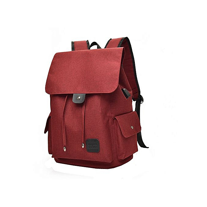 Fashion SingedanUSB External Charging Sports Running Traveling Student Bag Boy Laptop Backpack -  rouge à prix pas cher