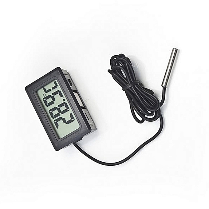 Other New Thermometer Digital LCD Indoor Temperature Meter With Waterproof Probe Digital LCD Thermometer ( 1 meter case ) (noir) LJMALL à prix pas cher