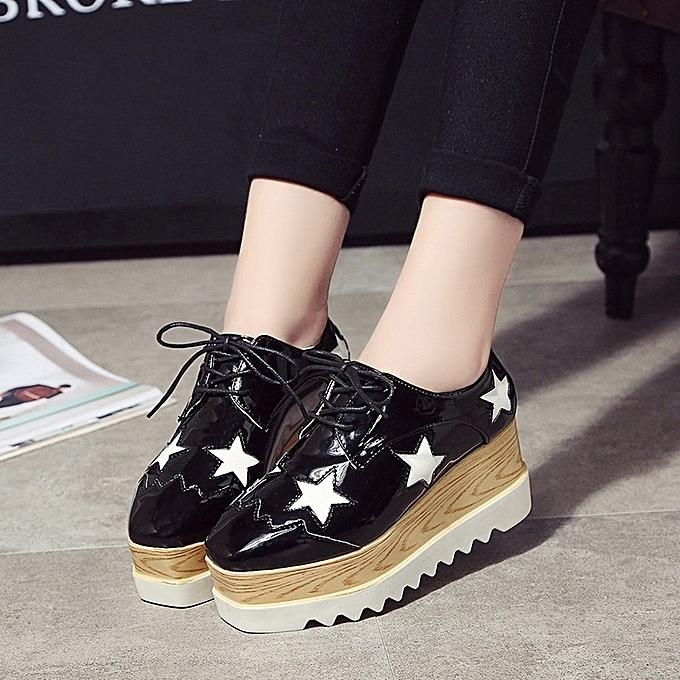 Autre Stylish 6.5cm High Heel Stars WoHommes 's Leather Shoes prix à prix Shoes pas cher  | Jumia Maroc 4758fe