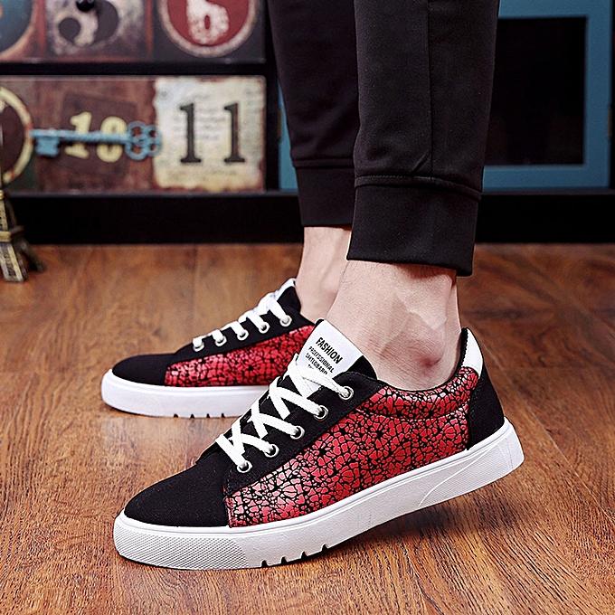 Fashion Hiamok Fashion Men Walking Sport chaussures Casual baskets Running chaussures rouge 39 à prix pas cher