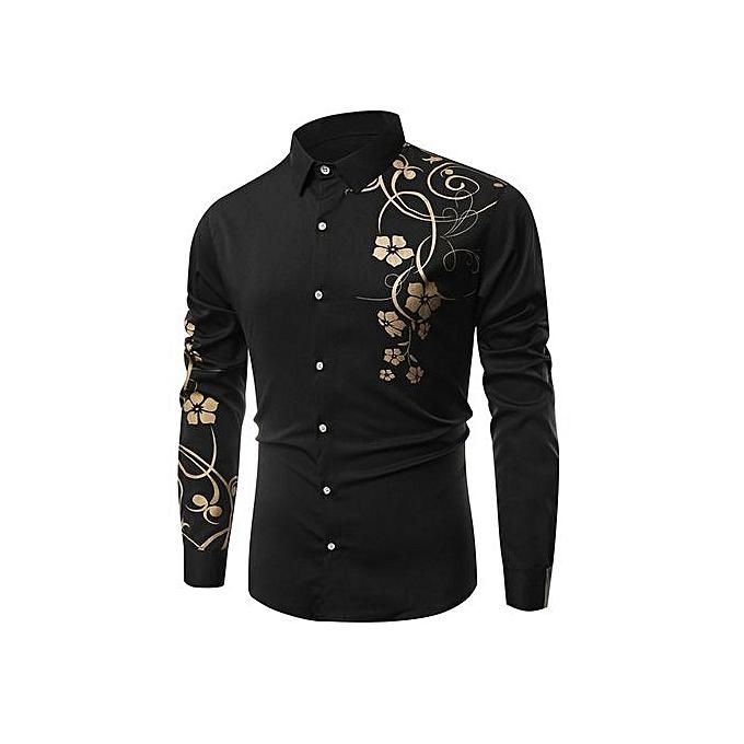 mode Floral Printed manche longues Shirt(XXXL) à prix pas cher