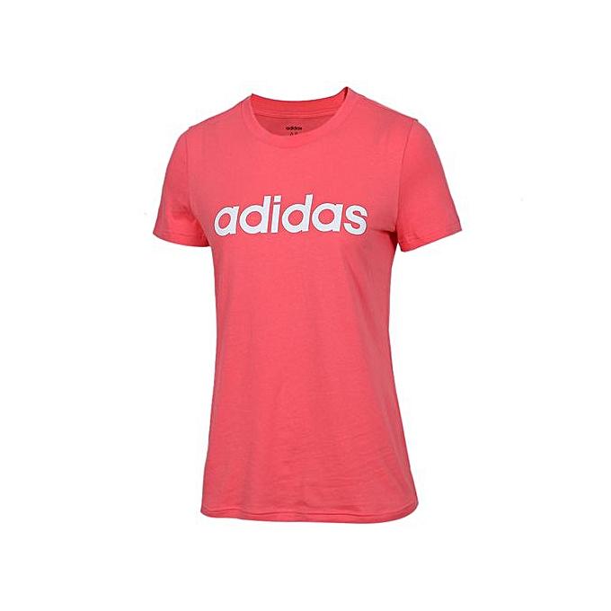Adidas femmes& 039;s rose Sports T-Shirt DX2545 à prix pas cher