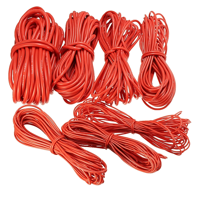 UNIVERSAL DANIU 10 Meter rouge Silicone Wire Cable 10 12 14 16 18 20 22AWG Flexible Cable 14AWG à prix pas cher
