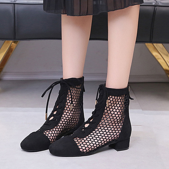 Fashion jiahsyc store Fashion Lady Summer Rohomme Hollowed Out With Short bottes Straps Wohommes chaussures à prix pas cher