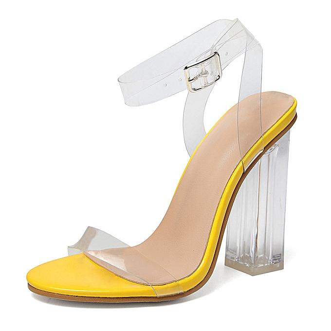 Fashion High heel sandals transparent sandals jaune à prix pas cher    Jumia Maroc