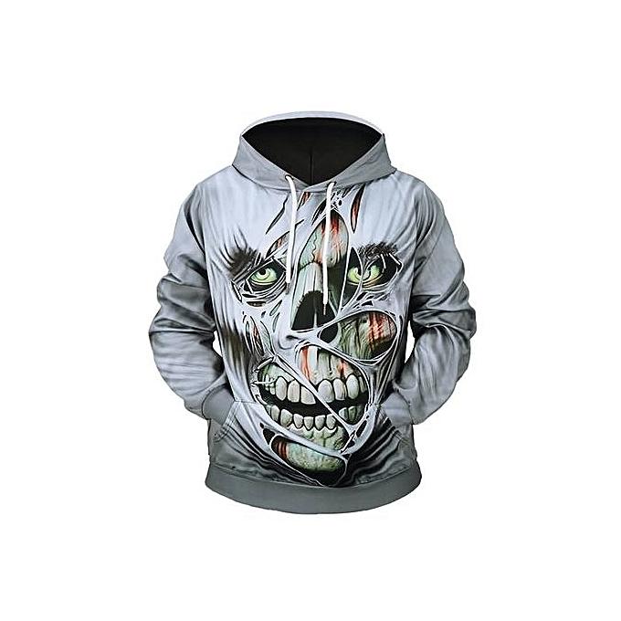 Passion Passion Skull Skull Skull Créatif Pie Imprimer À Capuche Sweat Halloween Horror qwO4rTq
