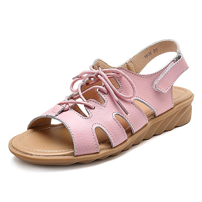Fashion Comfy Casual Sandals Lace Up femmes chaussures à prix pas cher