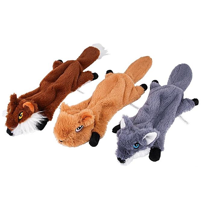 Autre nouveau Squeak Plush Toy Pet Training props Durable voituretoon Squirrel Toys petit dog Cat Popular Interactive Toy Pet Supplies (Wolf) à prix pas cher
