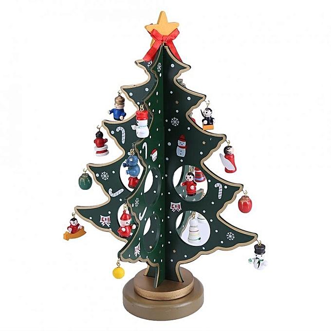 Diy christmas tree snowman pendants desk party home decor for Aide gouvernementale achat maison