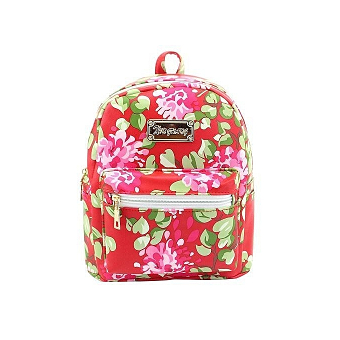 nouveauorldline femmes cuir impression sac à dos School sacs voyage sac à doss RD-rouge à prix pas cher