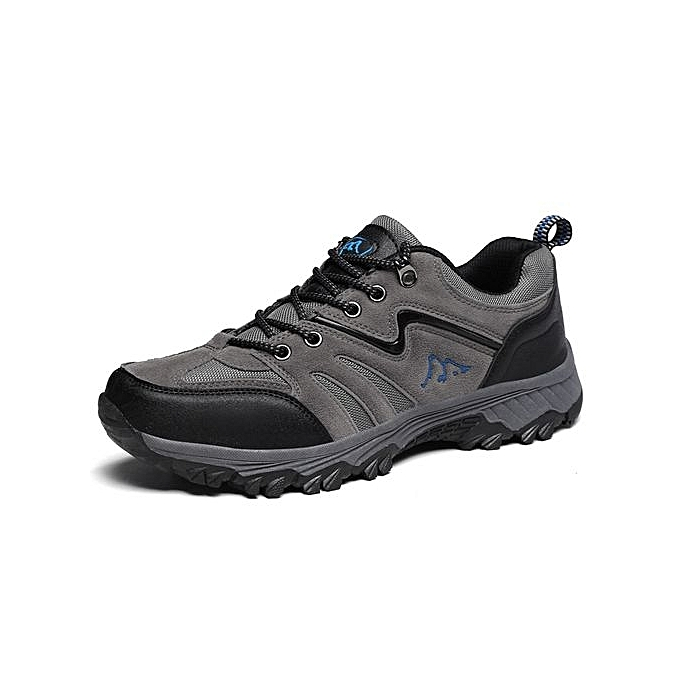 mode Autumn Winter Hommes Sport Mountain Hunting Athletic Hiking chaussures 2017 respirant Climbing paniers For Male-gris à prix pas cher