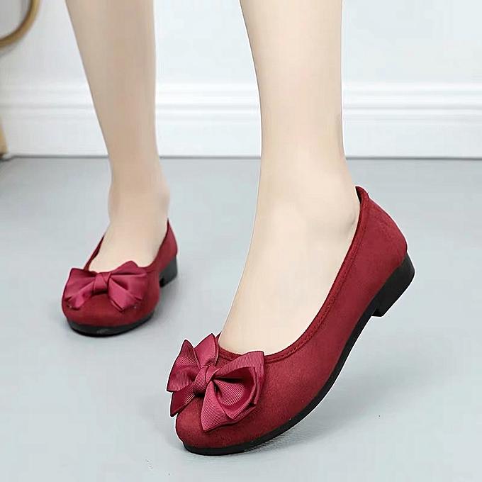 Fashion Chaussures plates confortables pour femmes -Rouge à prix pas cher    Jumia Maroc