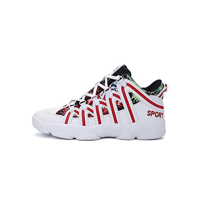 HT femmes Lace-Up Casual chaussures Fashion Sport chaussures baskets-blanc rouge à prix pas cher    Jumia Maroc