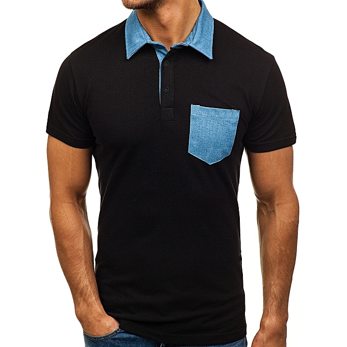 Other Fashion Story House Round Collar Men POLO Slim Sport Shirt à prix pas cher
