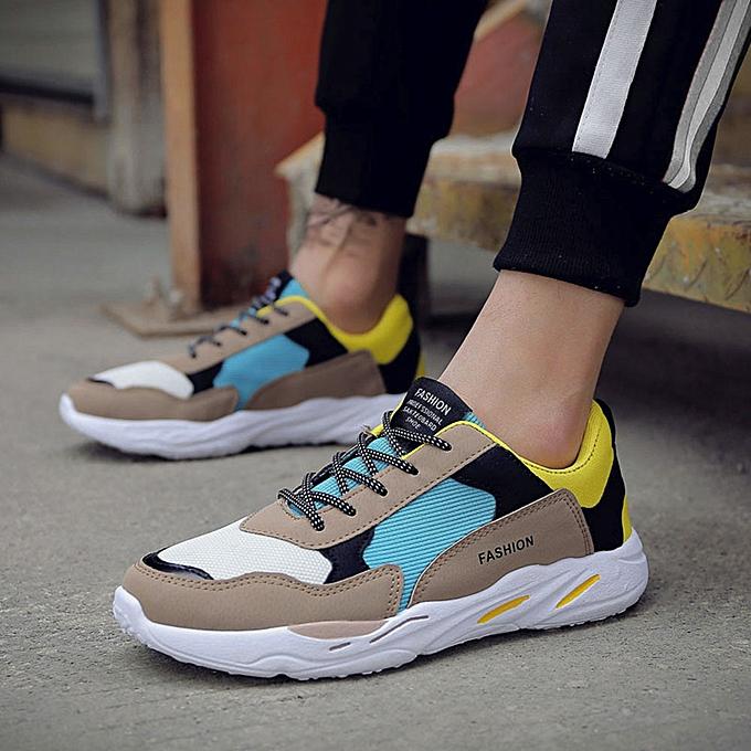 mode Hommes's Décontracté Sport chaussures Patchwork voyage chaussures respirant Lace-up paniers à prix pas cher