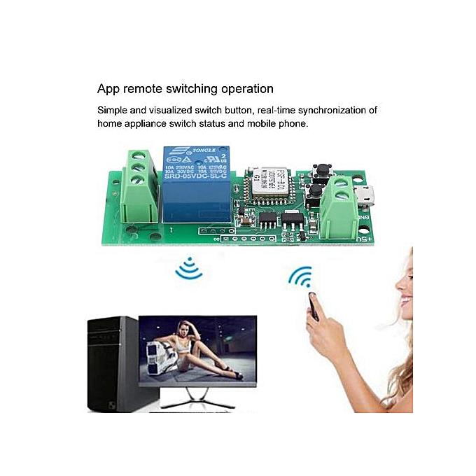 433Mhz Wireless WIFI Smart Switch DC 5V Inching Self Locking Relay Module
