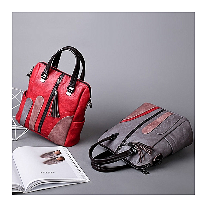 Fashion femmes Multi-function Handbags Hit Couleur Shoulder Bags Fashion Backpack à prix pas cher