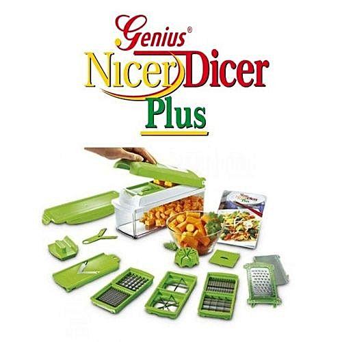 Trancheur de l gumes nicer dicer plus multifonctions 12 pieces robots hachoirs jumia maroc - Coupe legumes nicer dicer plus ...