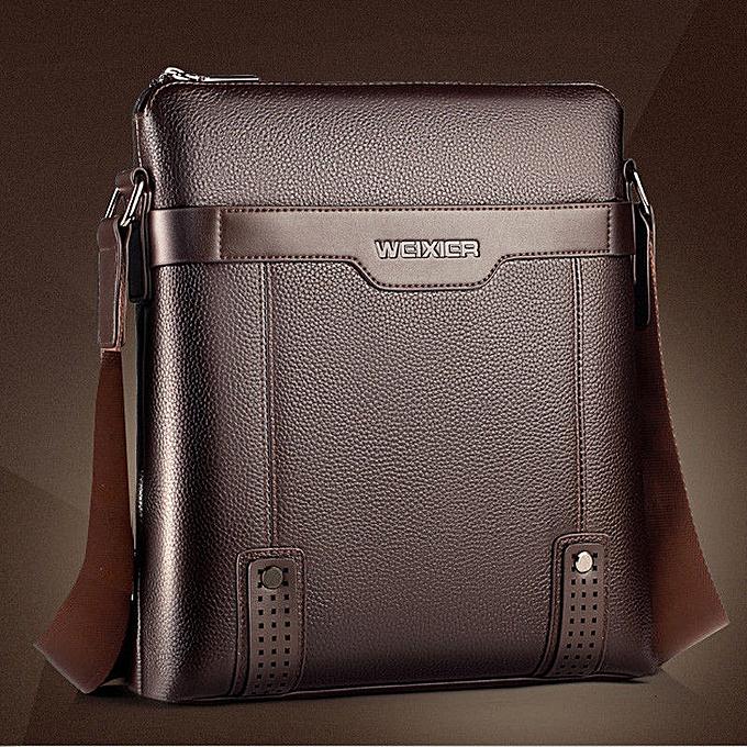Other 2018 New Style Fashion Men's PU Leather Messenger Bags Cross Body Casual Flap Shoulder Bag Briefcase Handbags(marron) à prix pas cher