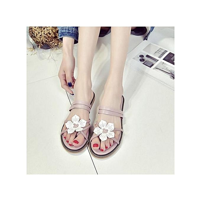 mode Jiahsyc Store femmes Bohemia été FFaibleer Weave Sandals plage Peep-Toe Flip Flops chaussures -rose à prix pas cher