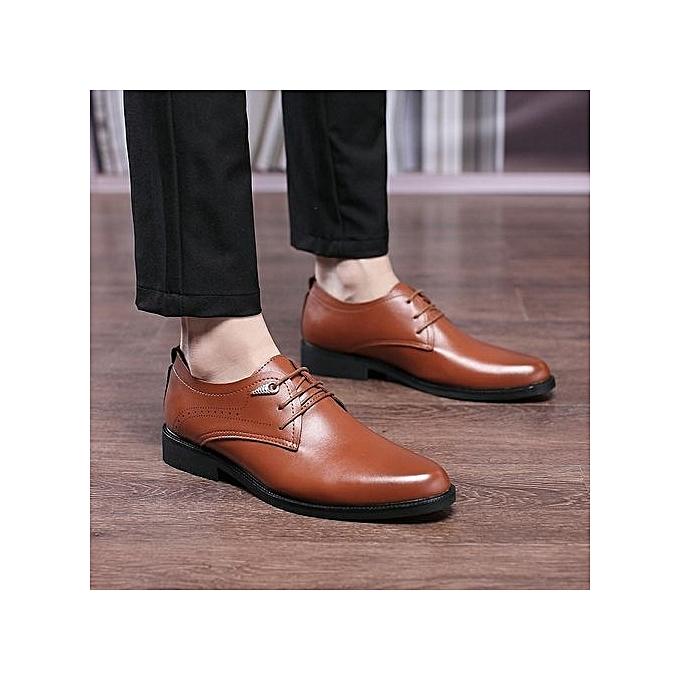 Generic mode Oxford Affaires Hommes chaussures Genuine cuir High Quality Soft Décontracté Slip On démarrage -marron02 à prix pas cher
