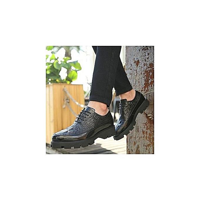OEM Men's New Short Dagger Tips Dress Small Suit Slim Fit chaussures—balck à prix pas cher    Jumia Maroc