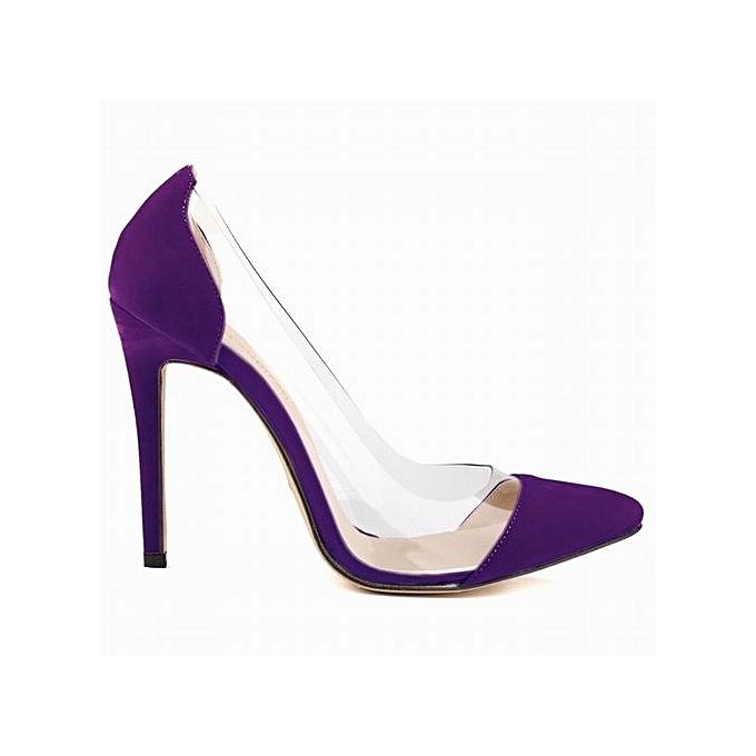 Tang femmes chaussures Leather Velvet High Heels Pointed Toe Party Pumps Stiletto-violet à prix pas cher    Jumia Maroc