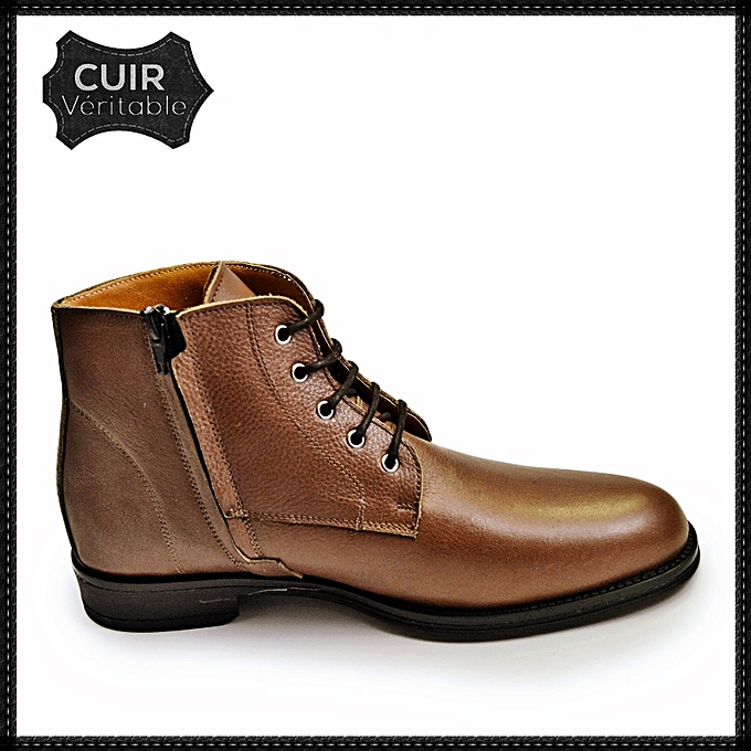 chaussure homme boots pour homme lacets en cuir tendance. Black Bedroom Furniture Sets. Home Design Ideas