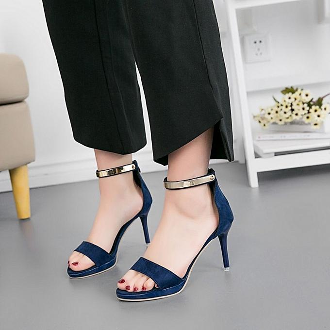 Générique Sedectres Fashion WoHommes  Round Round  Toe Buckle Strap Comfortable Work High Heel Party Shoes-Dark Blue à prix pas cher  | Jumia Maroc 198d0b