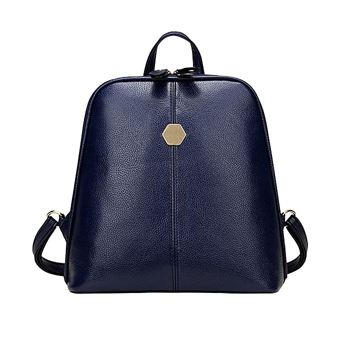 Other Aelicy pu cuir femmes sac à dos female zipper korean mode sac à dos schoolsac grand capacité femmes sac à dos 1124(bleu) à prix pas cher