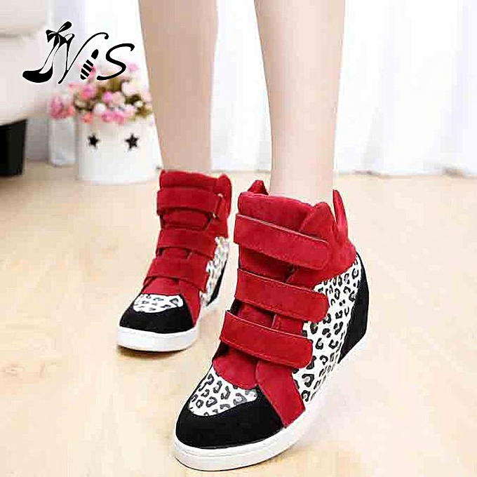 Fashion New Fashion WoHommes WoHommes WoHommes  Hidden Wedge Heels High Top Ankle Boots Sneakers Shoes Red+White-EU à prix pas cher    Jumia Maroc d6988d