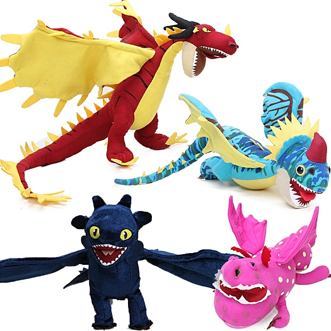 Autre 30 35cm How to Train Your Dragon 3 Plush Toys Meatlug Stormfly Hookfang Stuffed Animal Dolls Toothless Night Fury Light Fury(violet) à prix pas cher