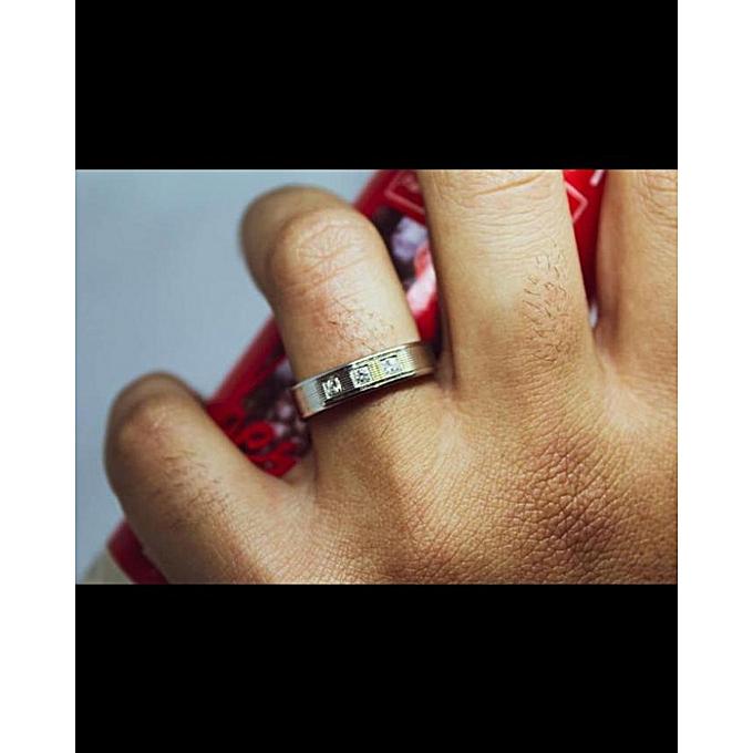 Bague De Mariage Hommes Argent 925 Rhodiage