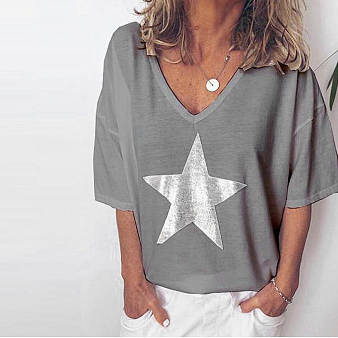 mode TCE femmes été mode Solid bling V-Neck manche courted T-shirt chemisier hauts à prix pas cher