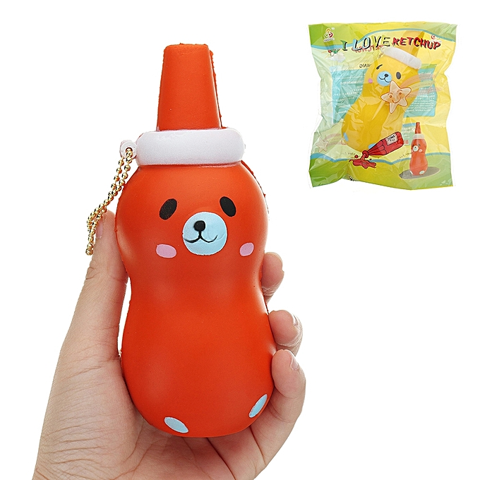UNIVERSAL Sanqi Elan ketchup Squishy 145.5CM Licensed SFaible Rising With Packaging Collection Gift Soft Toy-jaune à prix pas cher