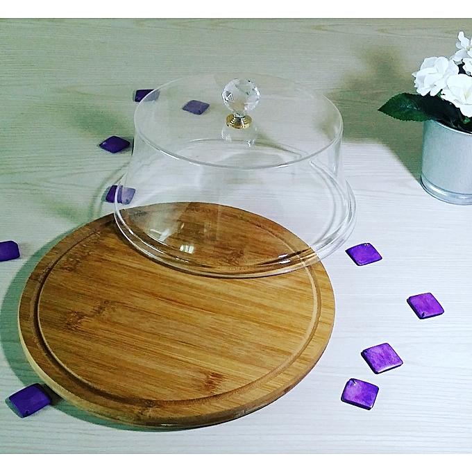 g n rique plateau cloche a fromage g teau rond en bambou avec couvercle acrylique prix pas. Black Bedroom Furniture Sets. Home Design Ideas