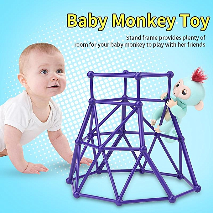 Other Interactive   Monkey Toy With Climbing Stand Frame Interesting Playset With violet Frame à prix pas cher
