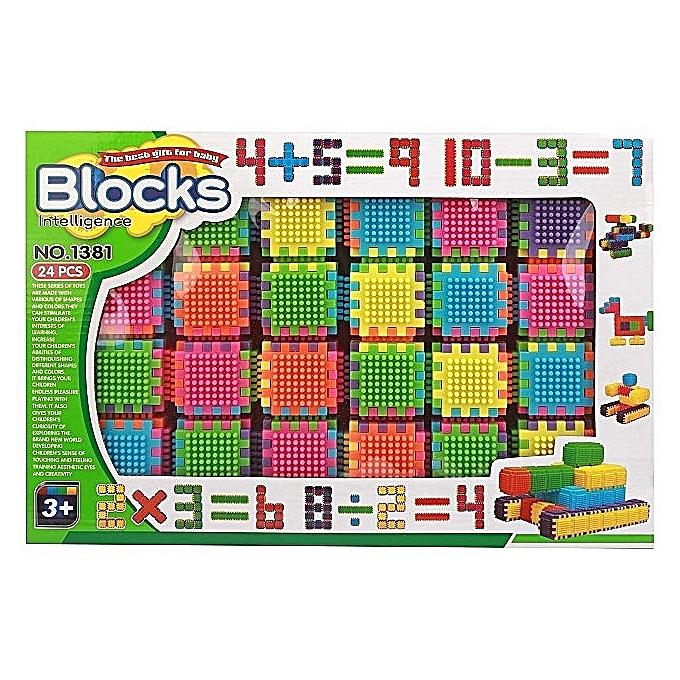 Generic Jeux de construction Blocks Gomme 24ps multi x6  à prix pas cher