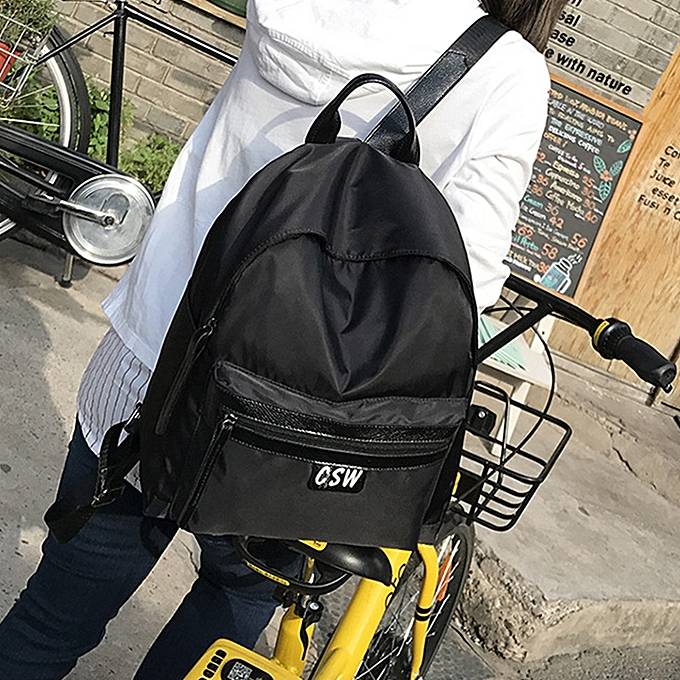 Fashion Tcetoctre Wohommes Fashion Oxford Solid School Bags Travel Backpack Bag BK-noir à prix pas cher