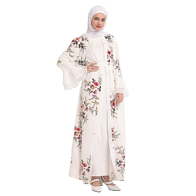 Fashion quanxinhshang Muslim Summer Hot Rrilling Lace Fashion noir Lace Embroiderouge Loose Robes à prix pas cher