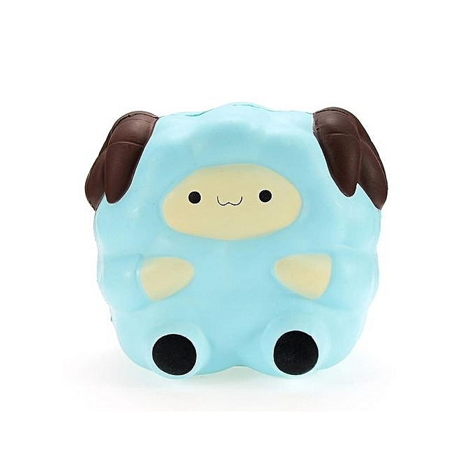 UNIVERSAL Squishy Jumbo Sheep 13cm Slow Rising Soft Squeeze Phone Charm Stress Relieve Toy bleu à prix pas cher