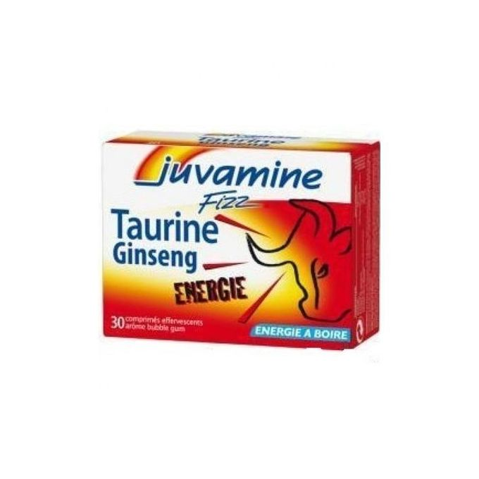 Juvamine Ginseng+Taurine - 30 comprimés effervescents