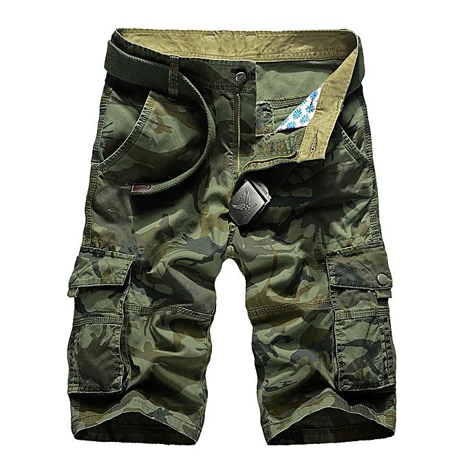mode Camouflage multi pockets Hommes& 039;s courtes-Army vert à prix pas cher