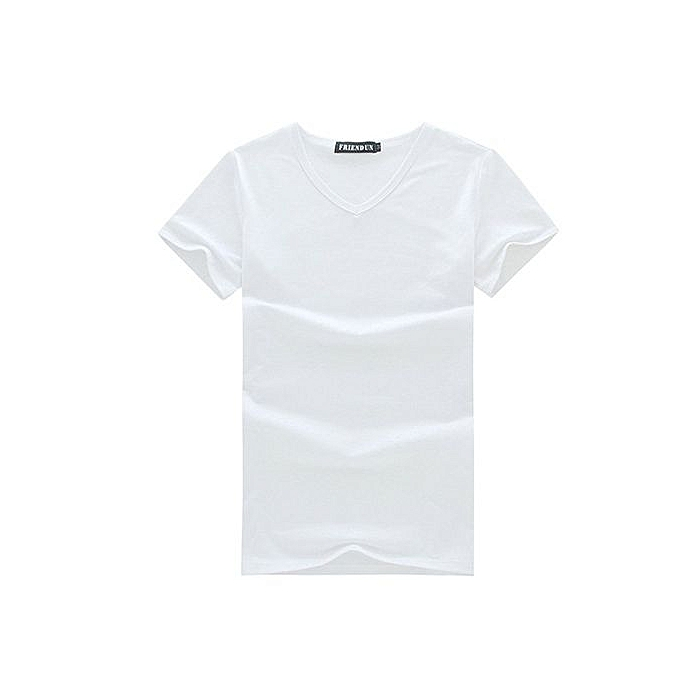 Generic Men's Casual V-neck Short Sleeve Shirt (blanc) à prix pas cher