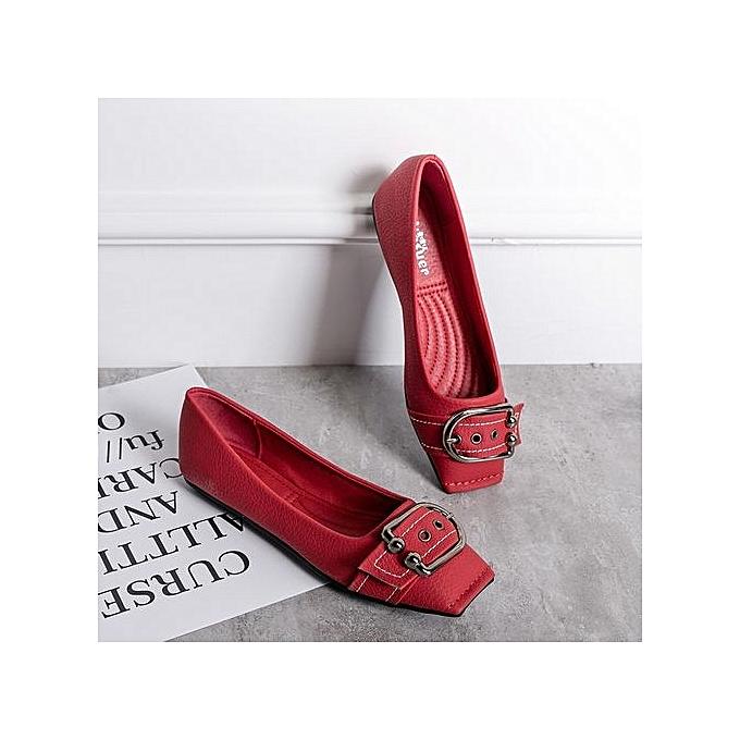 Fashion femmes Flats femmes Casual Ladies chaussures Ballet Flats -rouge à prix pas cher    Jumia Maroc