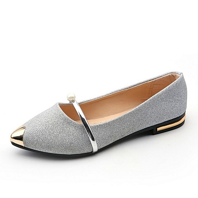 Autre Stylish Stylish Stylish Pearl Decorative WoHommes 's Flat Sole Single Shoes à prix pas cher  | Jumia Maroc 82c3e3