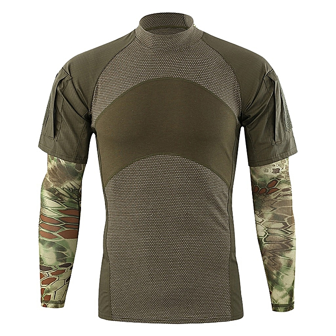 mode Pour des hommes Spbague Patchwork manche courte With Arm Cover Sleeves T-Shirt Top chemisier à prix pas cher